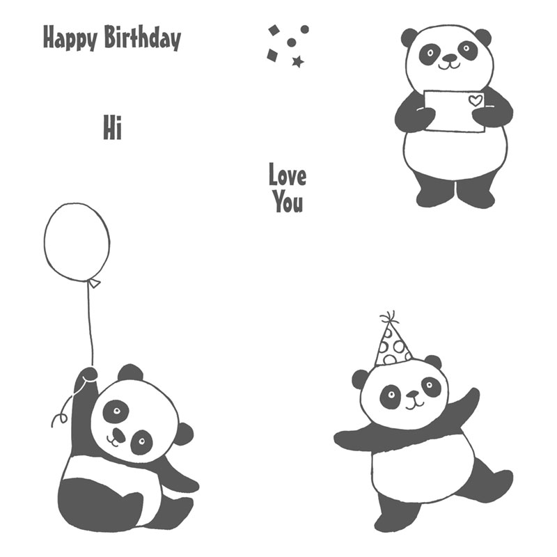 Party Pandas stamp set - Stampin' Up!
