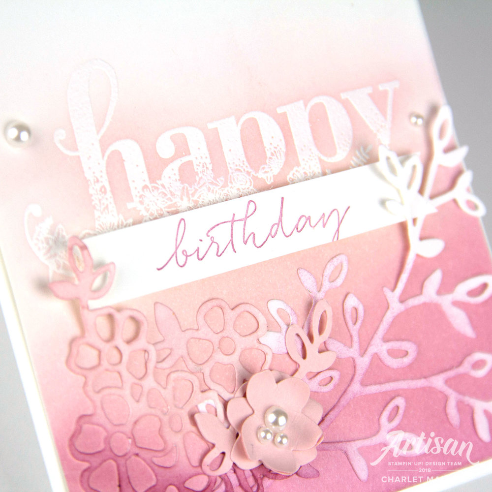 Happy Wishes Ombre Card - Charlet Mallett, Stampin' Up!