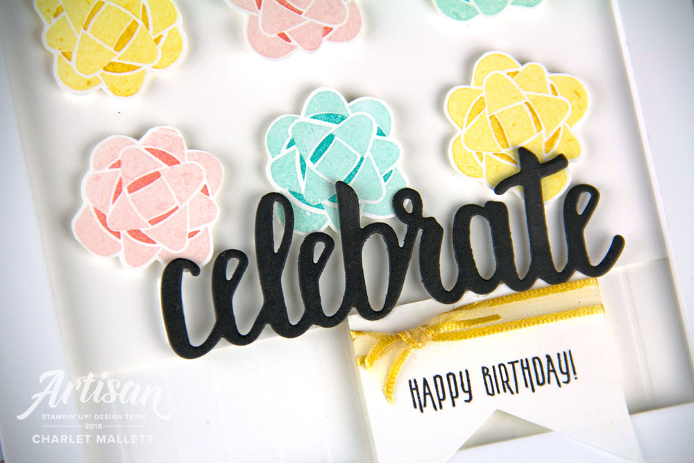 Celebrate Happy Birthday Framed decor - Charlet Mallett - Stampin' Up! Picture Perfect Birthday