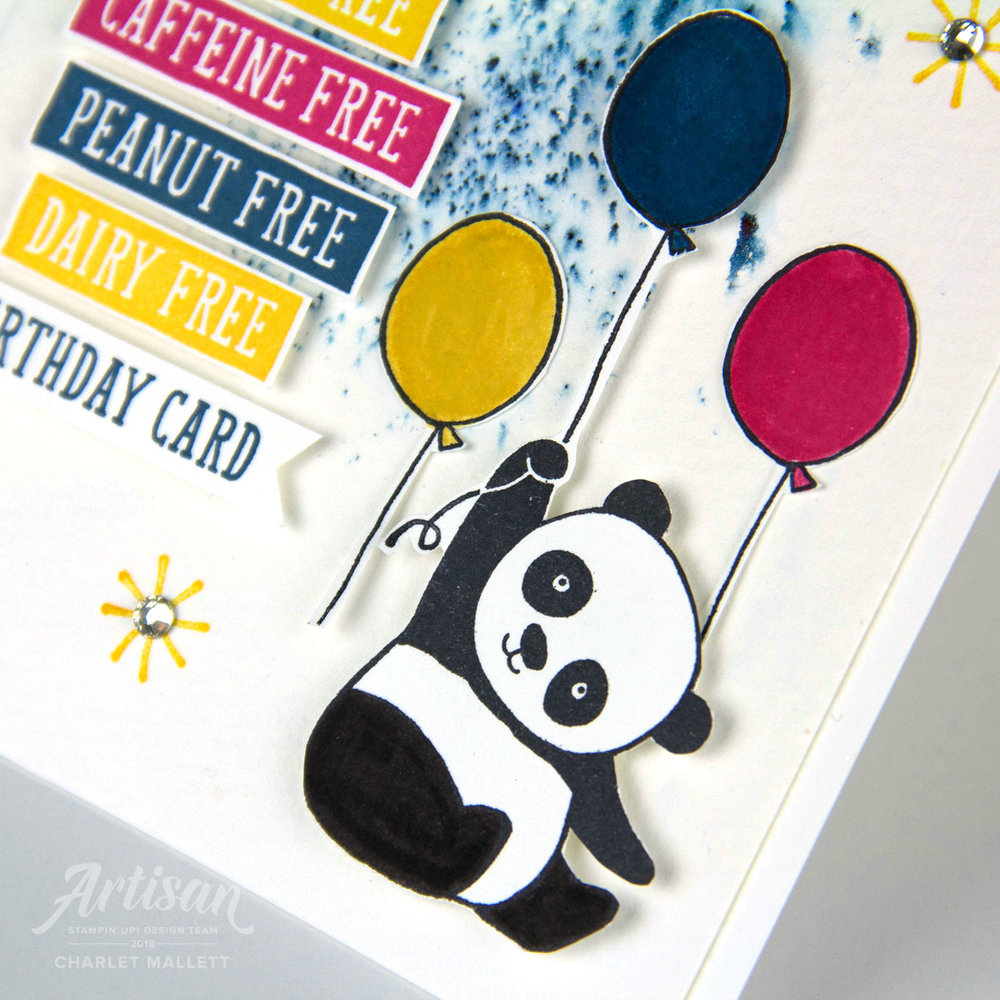 Birthday Wit & Party Pandas GDP125 - Charlet Mallett, Stampin' Up!