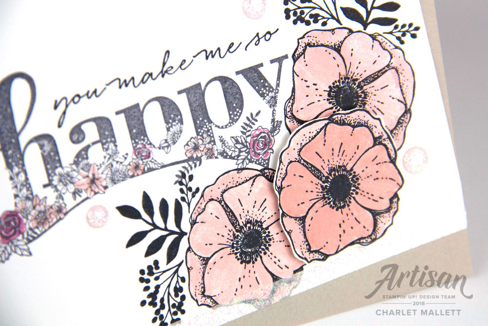 Happy Wishes & Amazing You Card - Charlet Mallett, Stampin' Up!