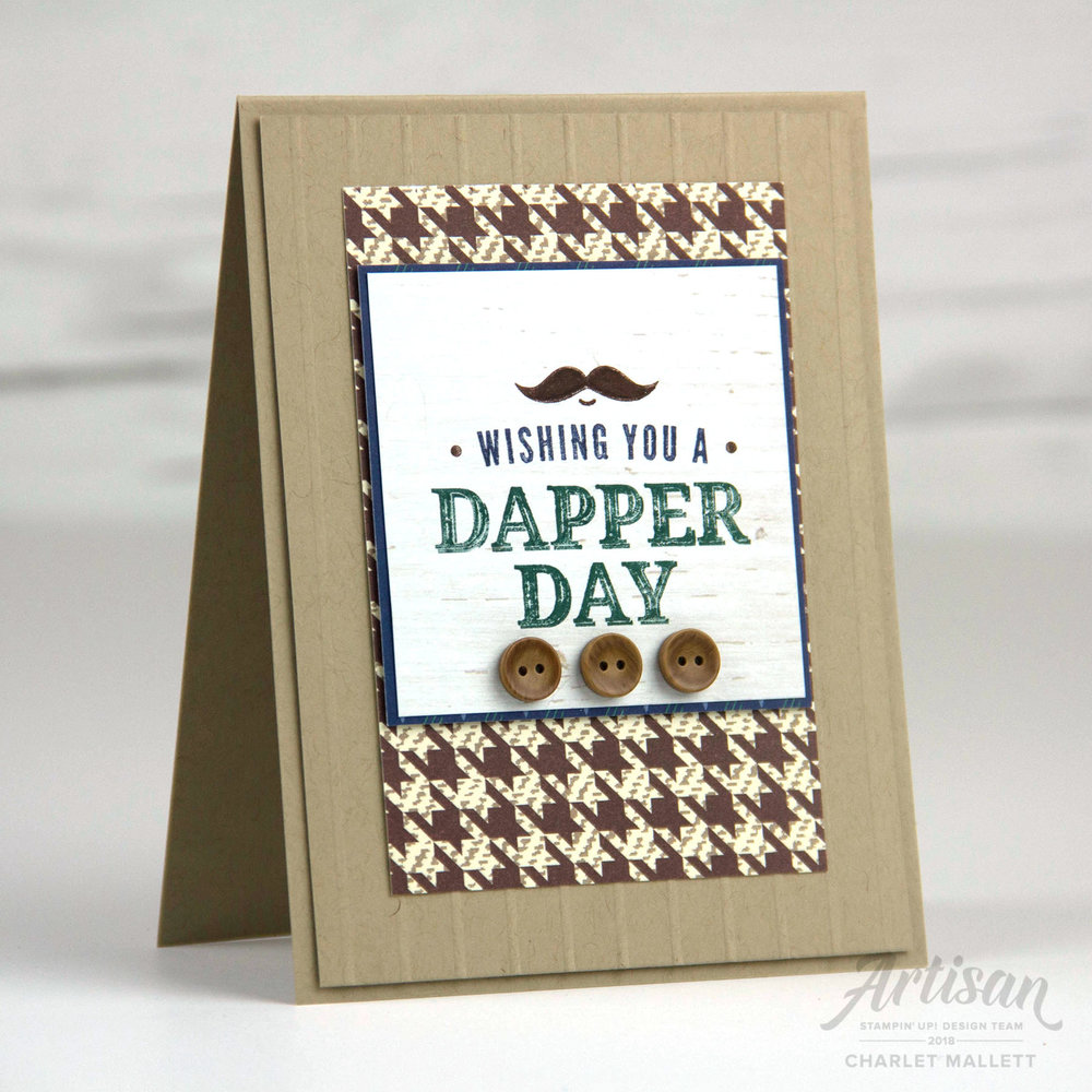 Father's Fay Card using the Truly Tailored Stamp set - Charlet Mallett, Stampin' Up!
