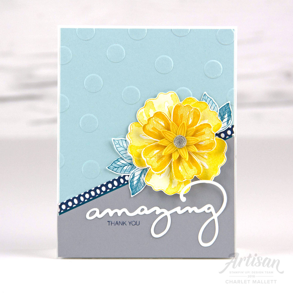 Bunch of Blossoms card - Charlet Mallett, Stampin' Up!