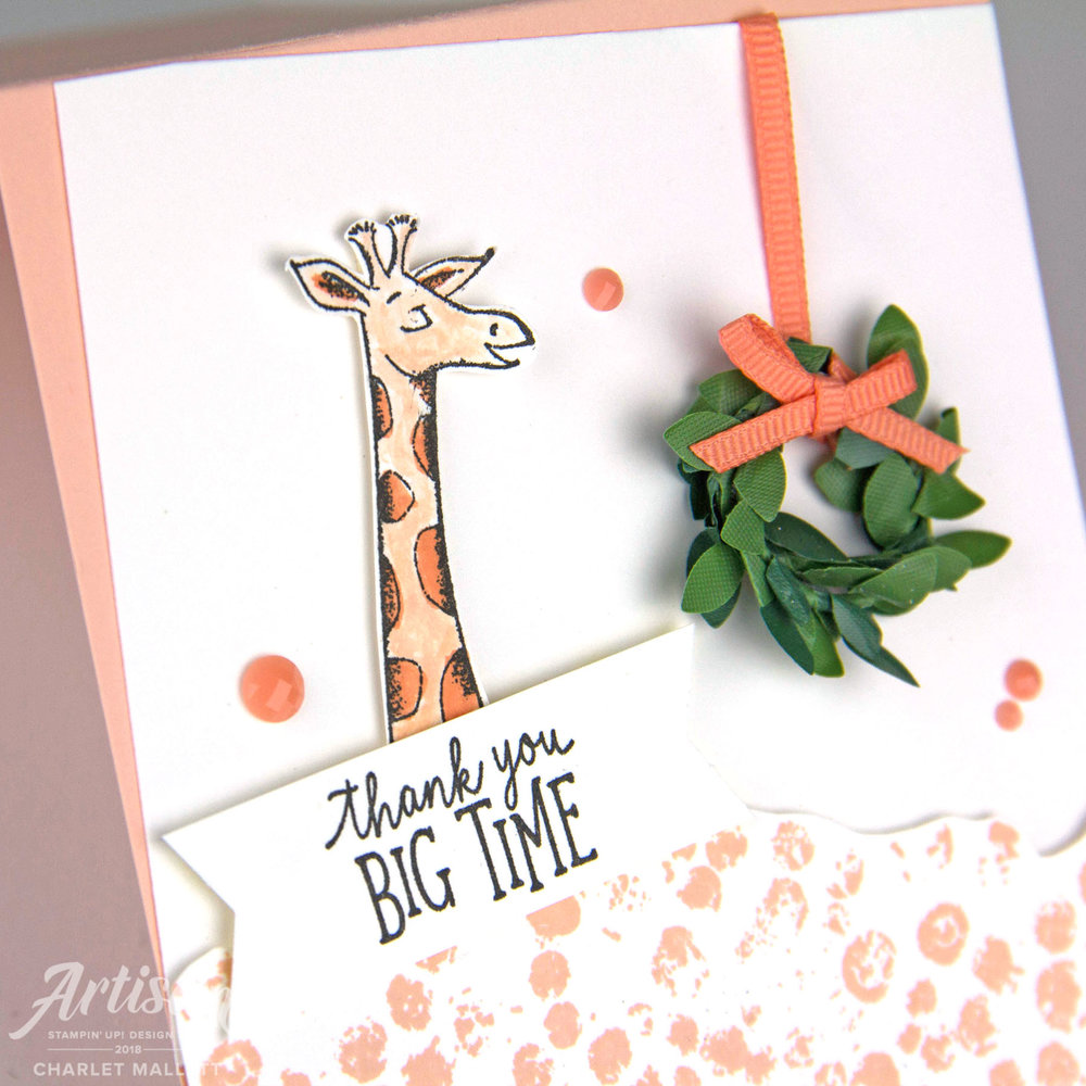 Animal Outing Thank You Card - Charlet Mallett, Stampin' Up!