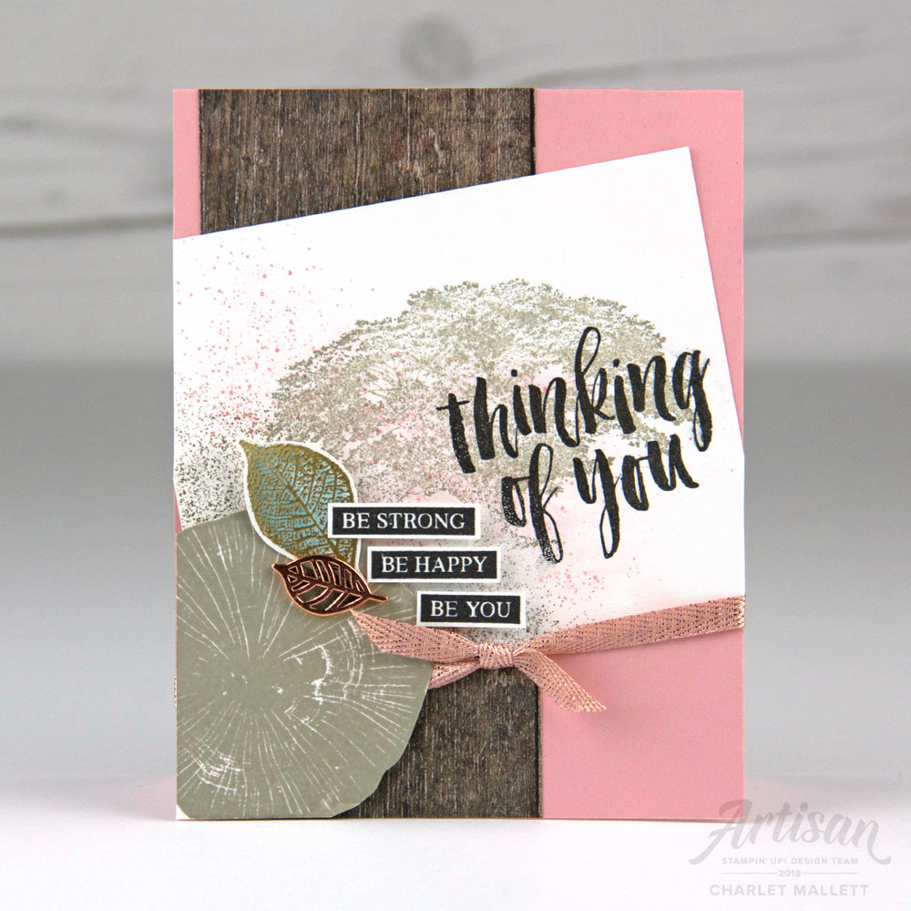 Rooted in Nature - Thinking of You card - Charlet Mallett, Stampin' Up!