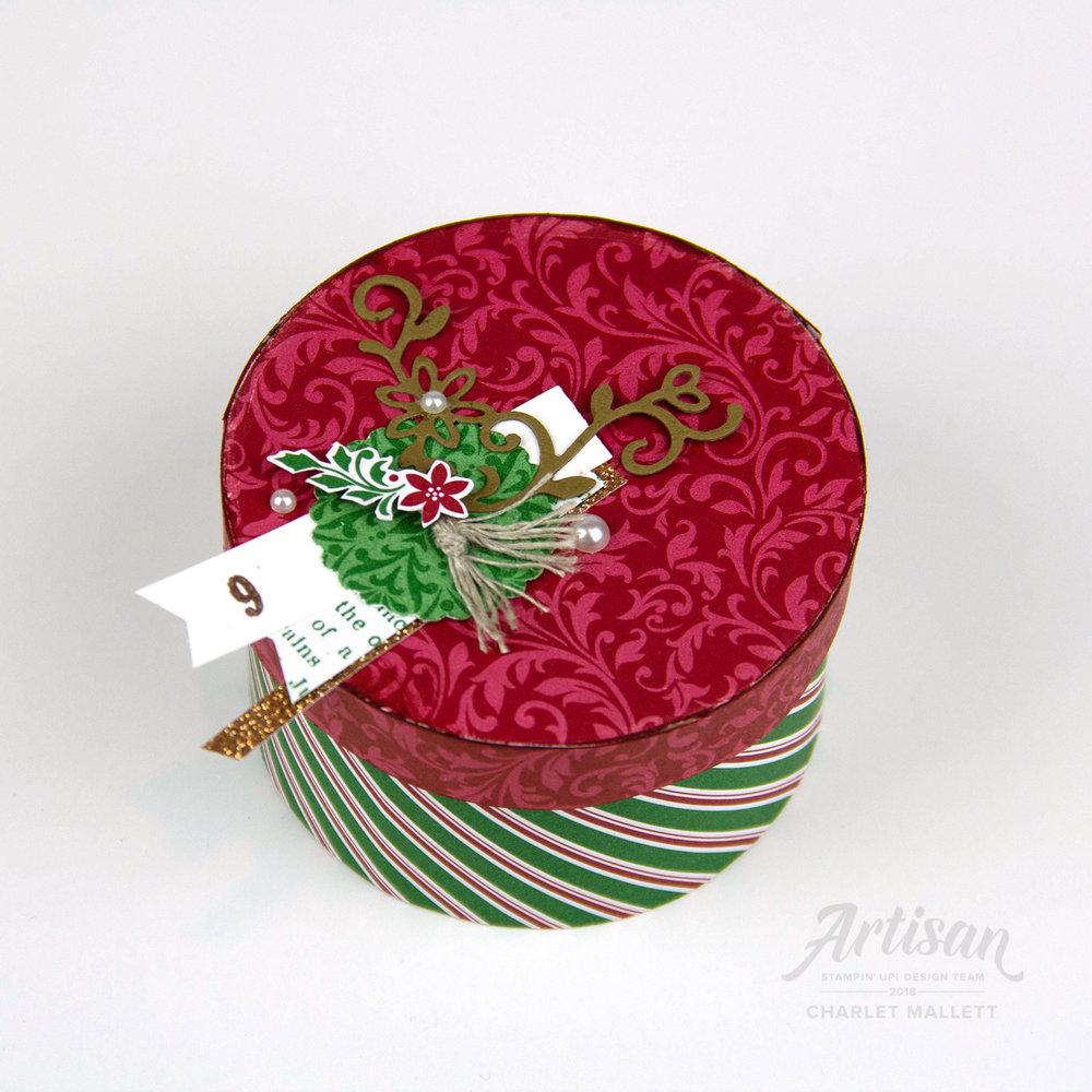 Dashing Deer gift box &Dashing Along papers #9 - Charlet Mallett, Stampin' Up!