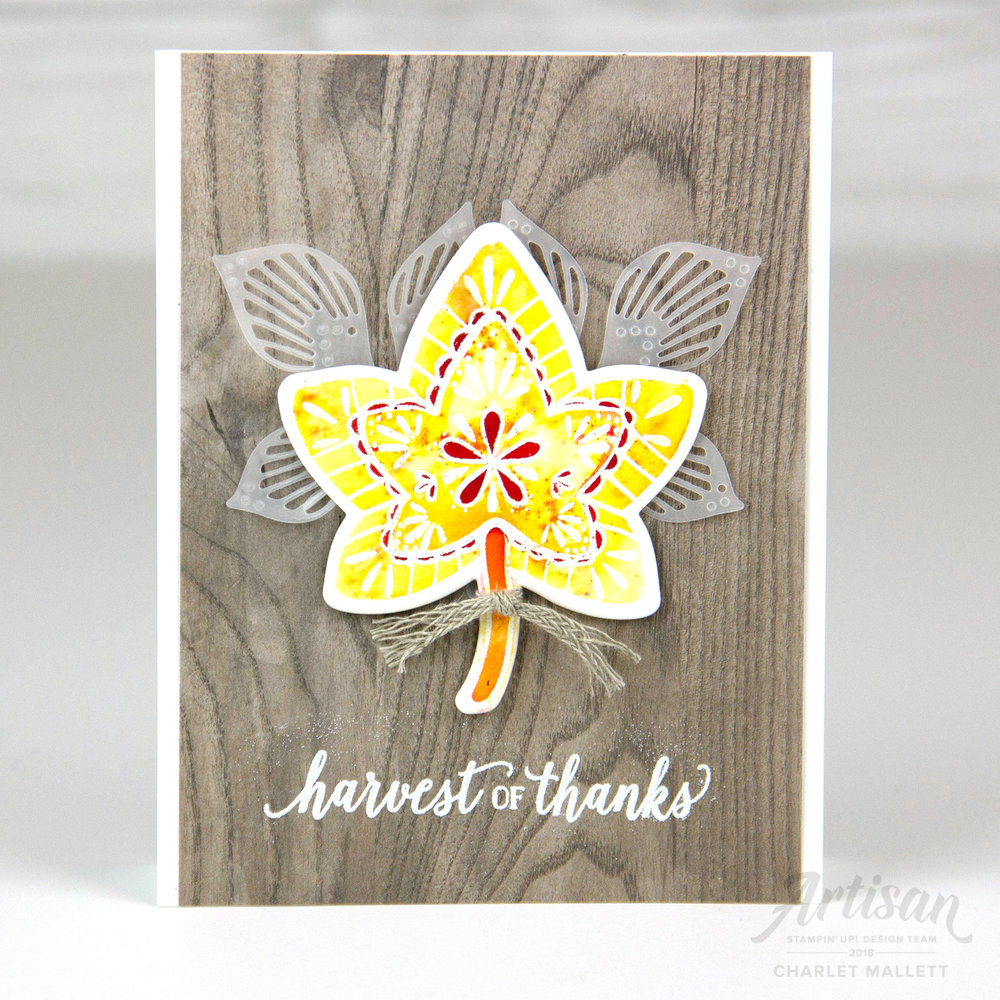 Falling For Leaves - Charlet Mallett, Stampin' Up!