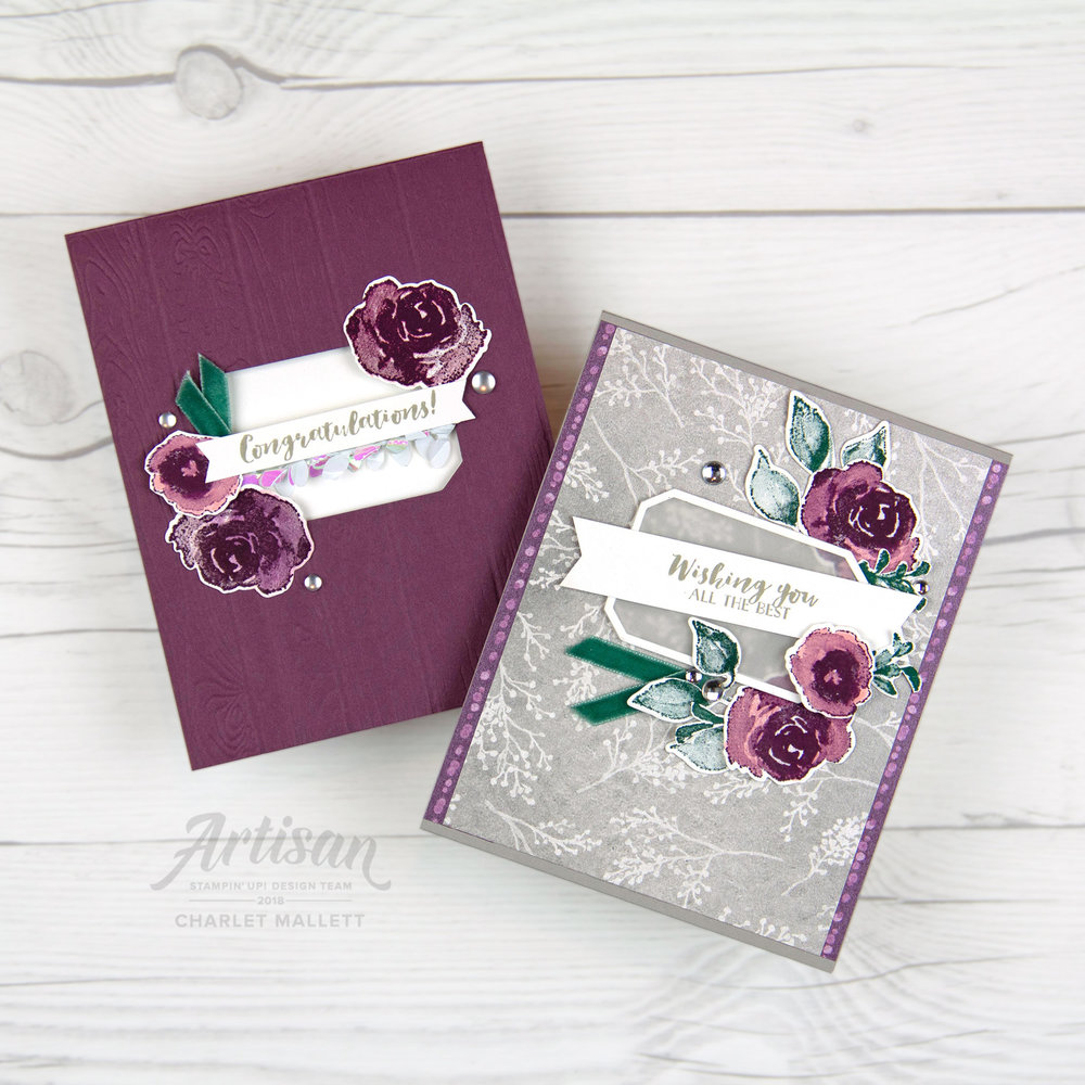 First Frost new year cards - Charlet Mallett, Stampin' Up!