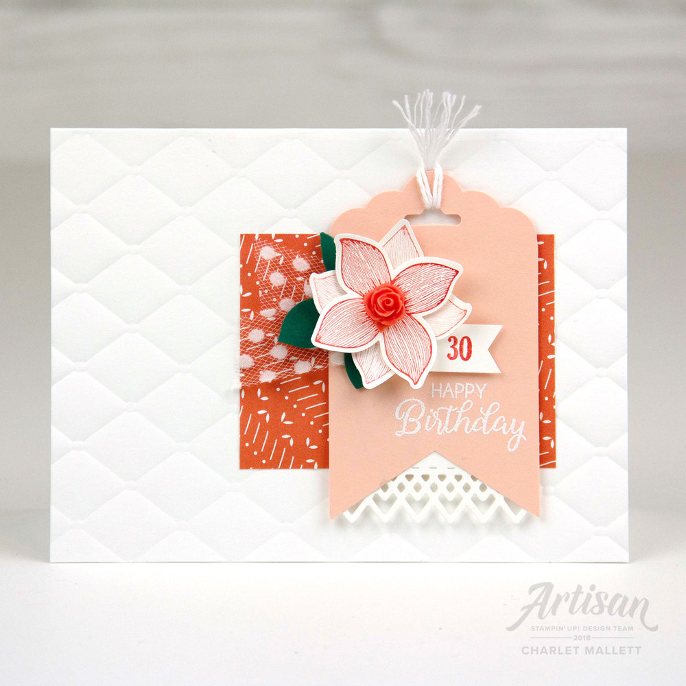 Pop of Petals 30 Year Birthday Card - Charlet Mallett, Stampin' Up!