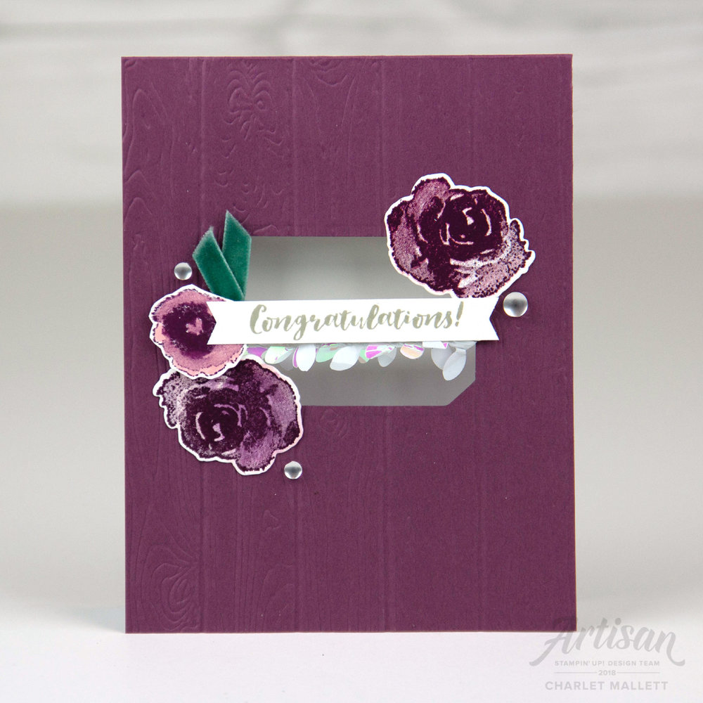 First Frost new year card, Congratulations - Charlet Mallett, Stampin' Up!