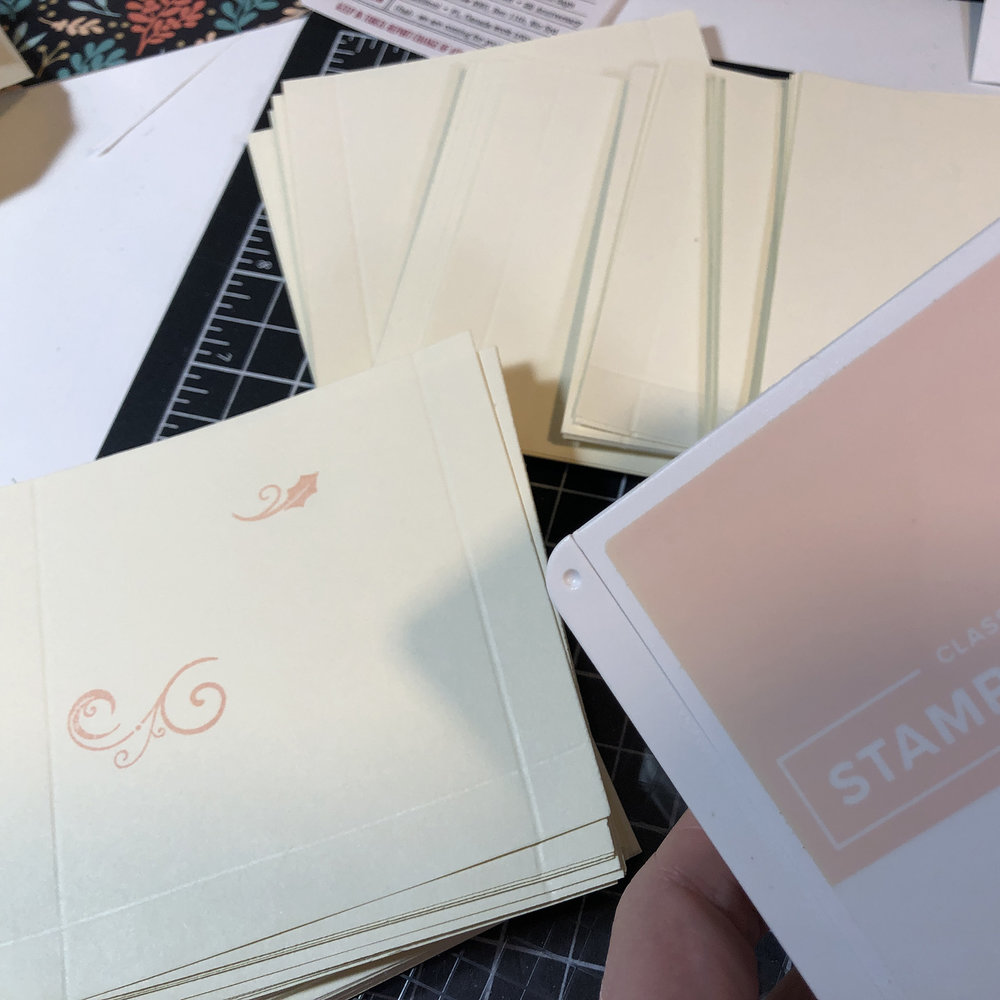scored pockets with stamping
