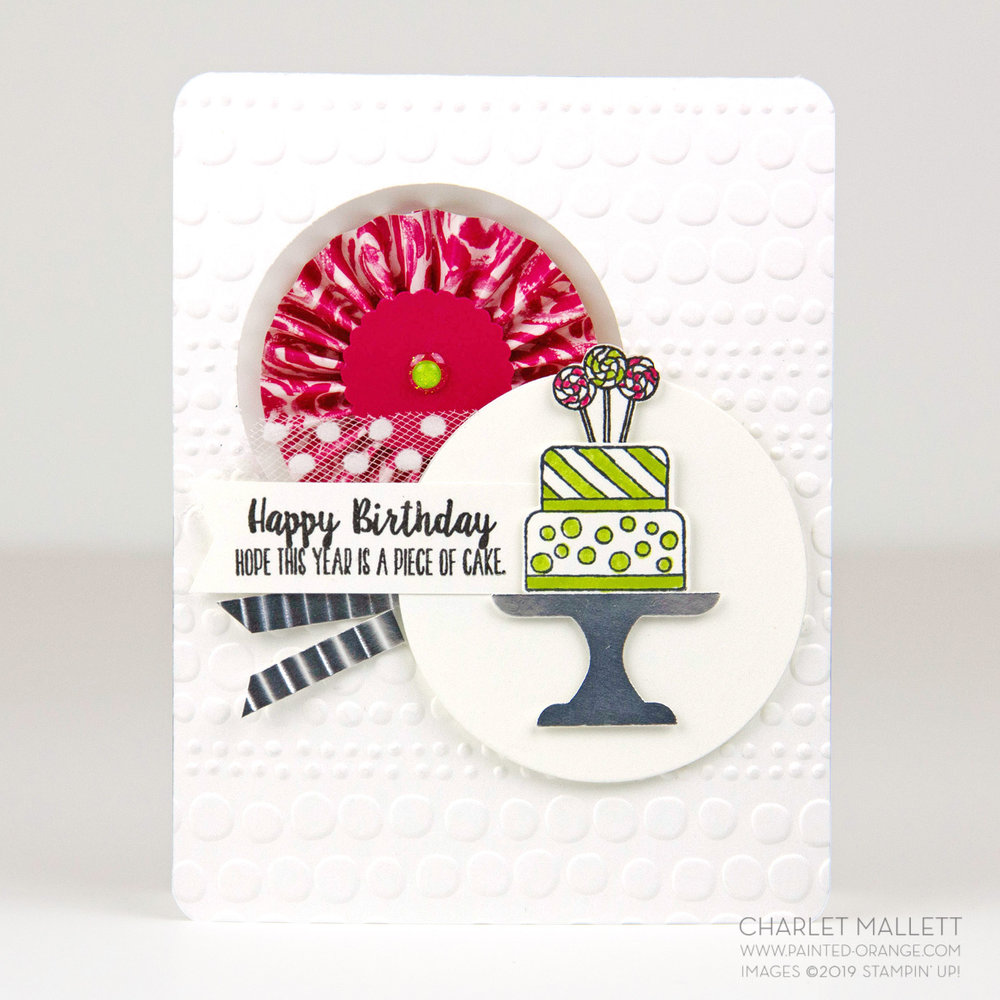 Piece of Cake card - Charlet Mallett, Stampin' Up!