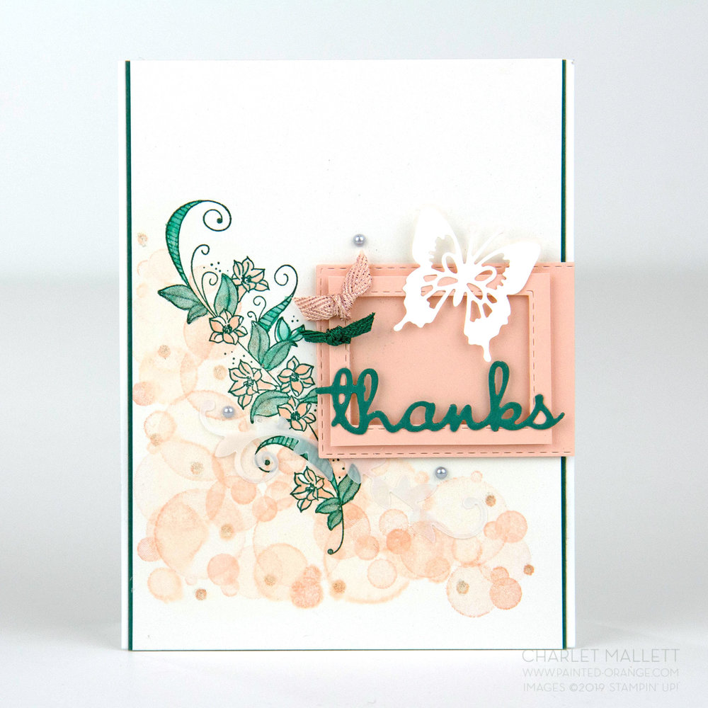 Beauty Abounds Thanks Card - Charlet Mallett, Stampin' Up!