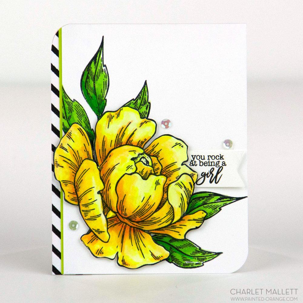 Floral Bouquet, #girlboss Louise, Charlet Mallett - cardmaker