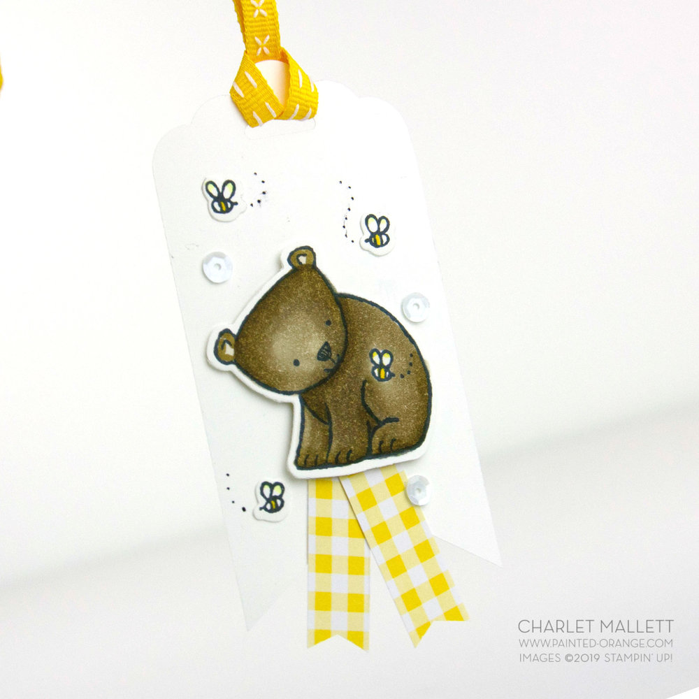 Gift tag using A Little Wild - Charlet Mallett, Stampin' Up!