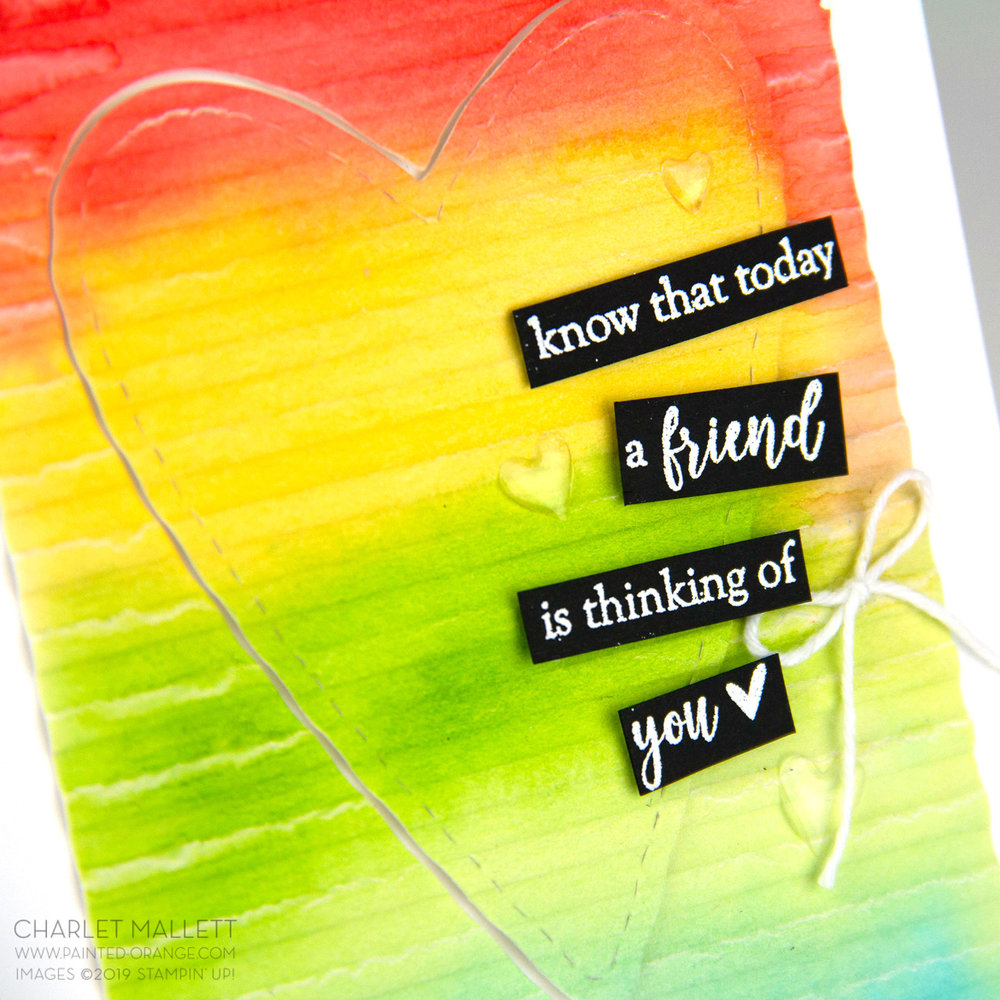 Part of My Story - Rainbow Heart card - Charlet Mallett, Stampin Up!