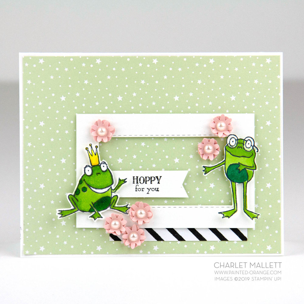 So Hoppy Together frog card- Charlet Mallett, Stampin' Up!