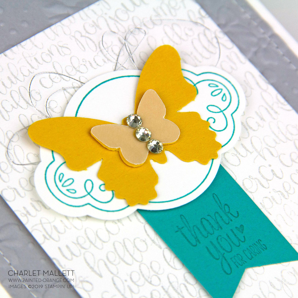 Label Me Pretty Thank You Card- Charlet Mallett, Stampin' Up!