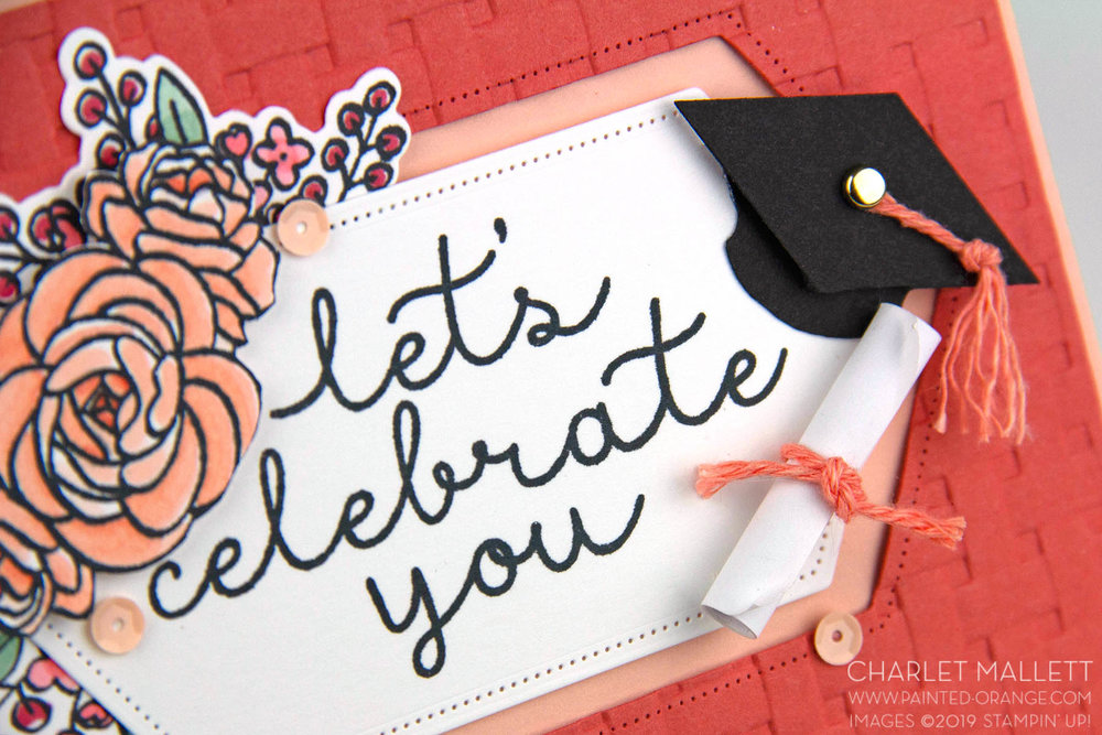 Bloom and Grow - Graduation card - Charlet Mallett, Stampin' Up!