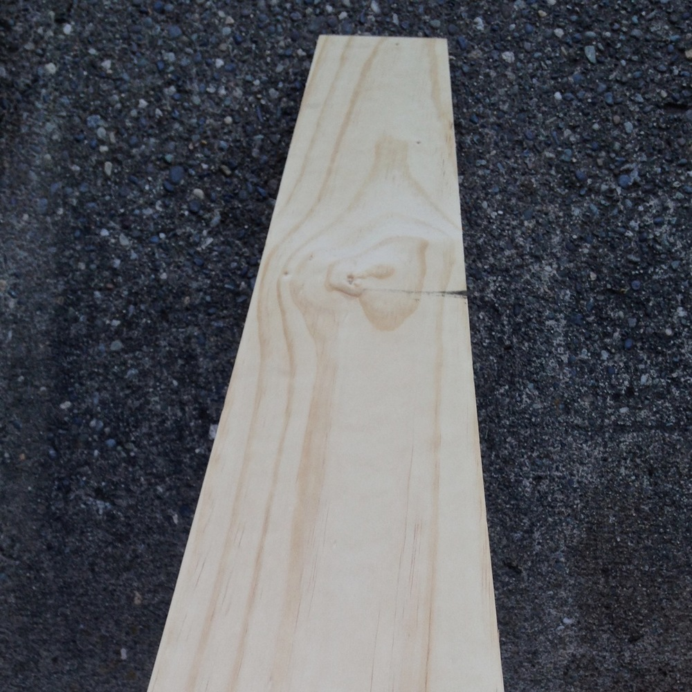 Select Pine has low grain, is light weight and easy to carve but still quite strong.