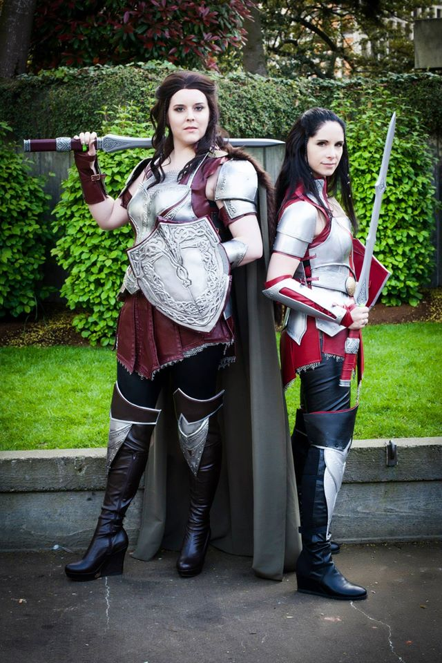 Abi Sue and Bev Downen as Lady Sif