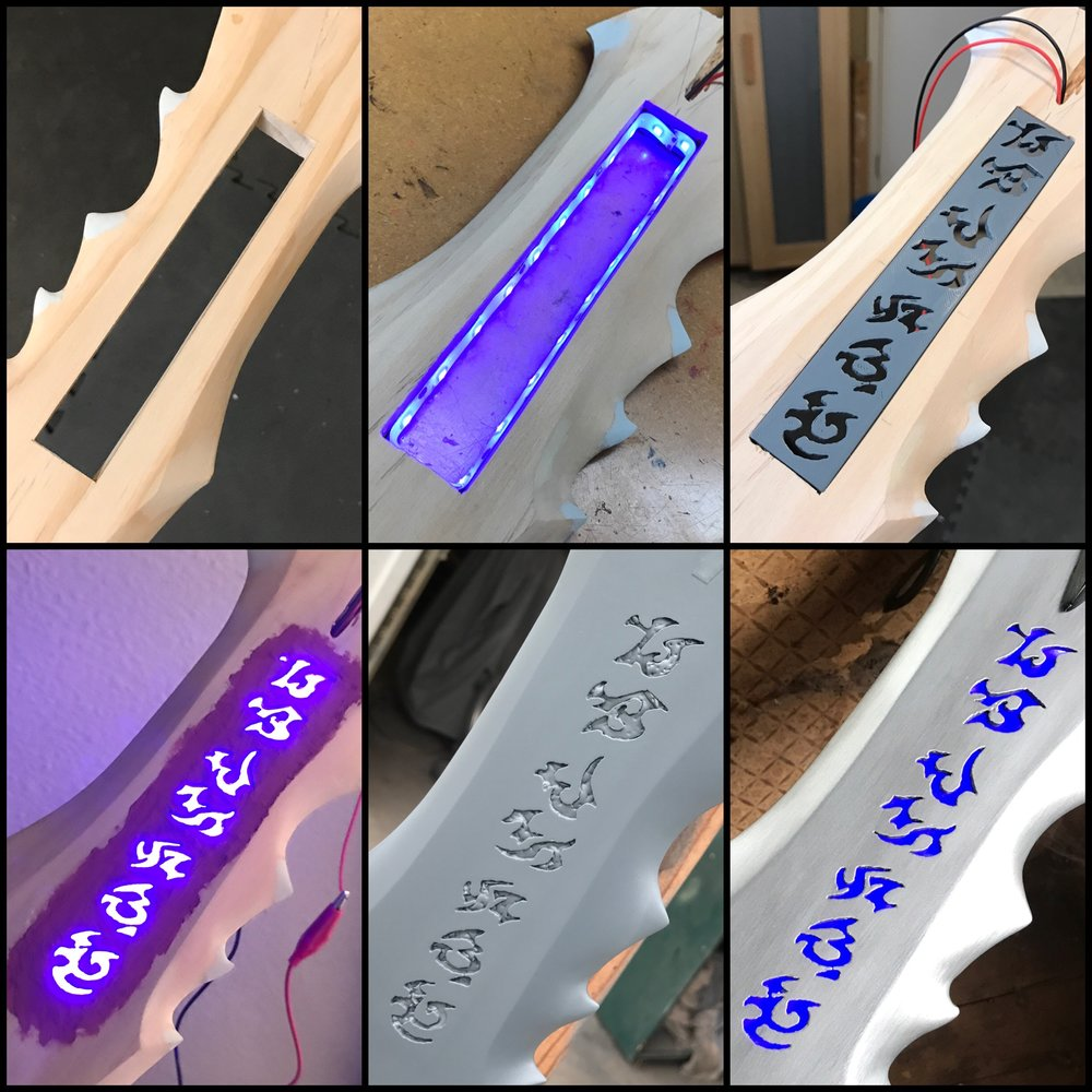 Blade lighting progression.