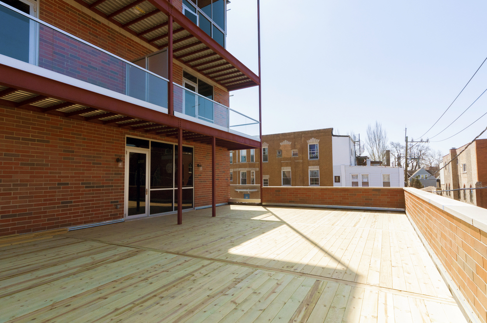1000 North Damen Chicago Exterior Deck TARIS Real Estate