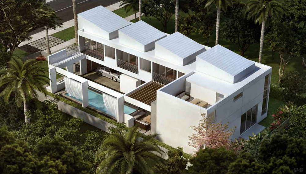 Calbira House Miami Florida Exterior Render Aerial TARIS Real Estate