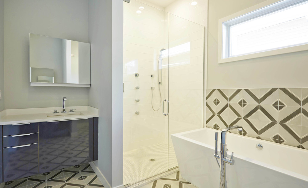 703 North Campbell Chicago Interior Master Bathroom TARIS Real Estate