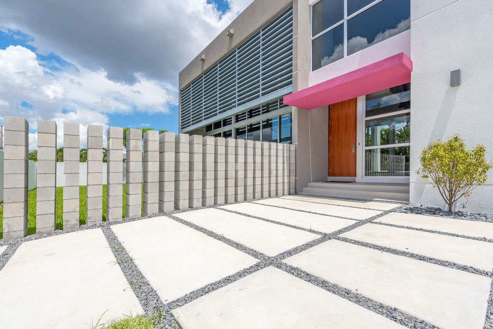 The Setting Homes Plum House Miami Florida Exterior Entry TARIS Real Estate