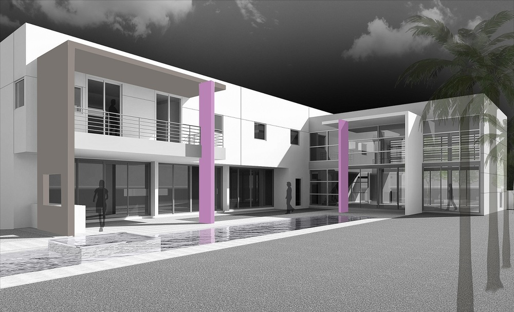 The Setting Homes Plum House II Miami Florida Exterior Render Rear Pool TARIS Real Estate