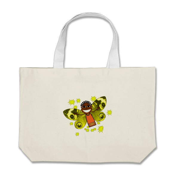 Zeena Smile Canvas Bag Enjoy the natural positive vibes of Zeena, the magical butterfly with this Jumbo Tote. Perfect for holding books, groceries, picnic  items and kids toys.