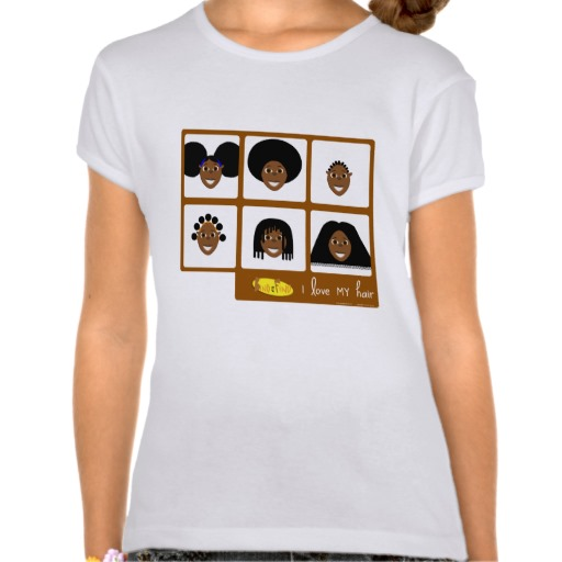 Fino 'I Luv My Hair' T-shirt    'I Luv My Hair' t-shirts  are by far our favourite new addition to our collection. These nicely fitted t-shirts shows Fino sporting a cool different type of hairstyle and they are all beautiful to us.