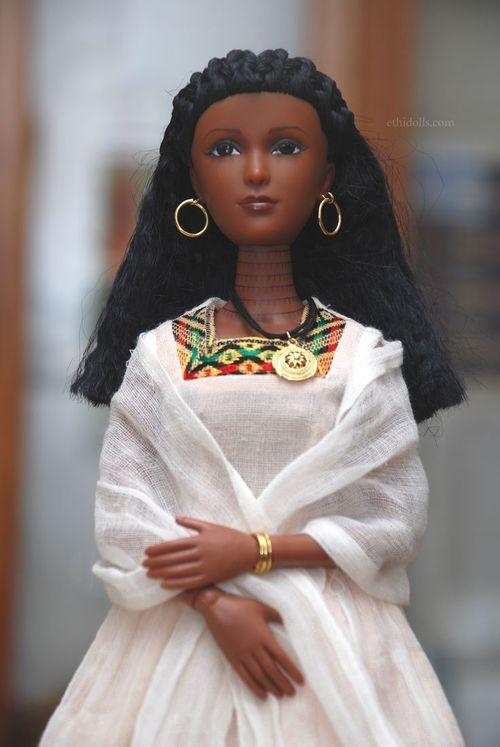 white lady black children