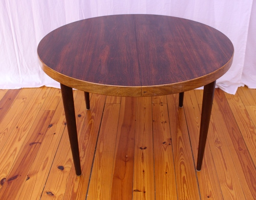 Danish Mid Century Modern Rosewood Dining Table By Kai Kristiansen