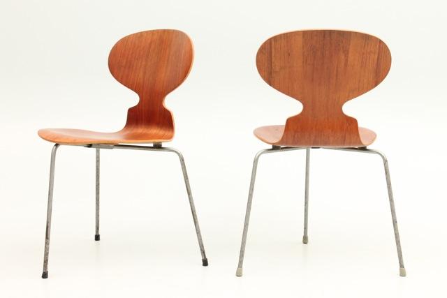 6 Teak Ant Chairs / FH3100 By Arne Jacobsen + Fritz Hansen