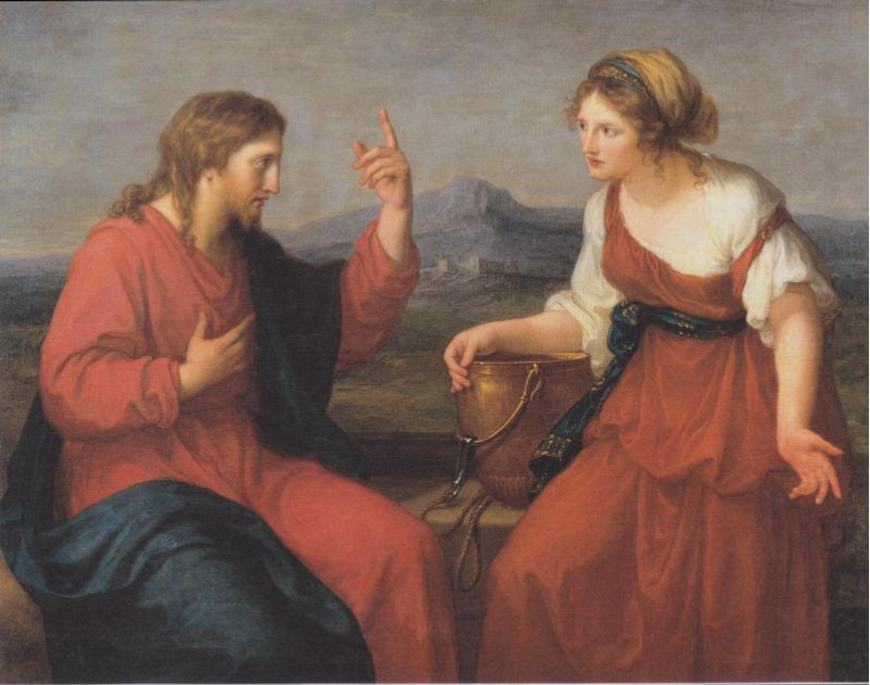 """Christ and the Samaritan woman at the well "" by Angelica Maria Anna Catharina Kauffmann (1796)"