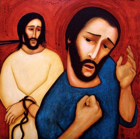 """Peter Denies Christ "" by Michael O'Brien"