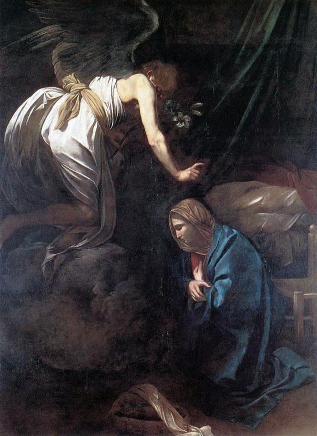 """Annunciation"" Caravaggio (1608)"