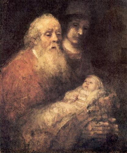 """Simon With Jesus"" by Rembrandt (1669)"