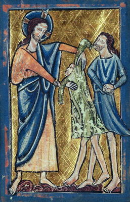 """God Clothing Adam and Eve"" by William de Brailes (c. 1250)"