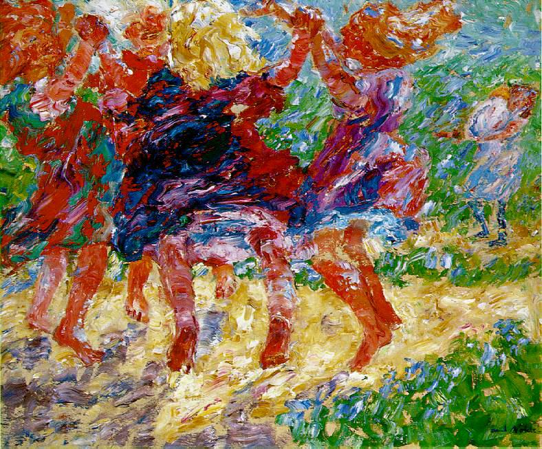 """Wildly Dancing Children"" by Emil Nolde"