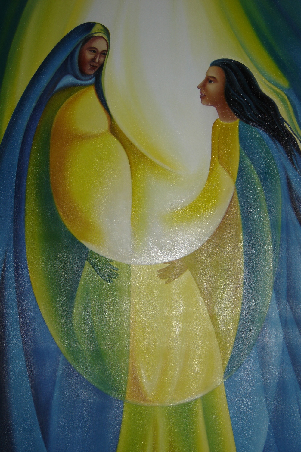 """The Visitation""  from the Church of El Sitio, Suchitoto, El Salvador"
