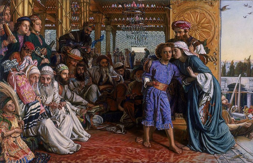 """The Finding of the Saviour in the Temple"" by William Holman Hunt (1860)"