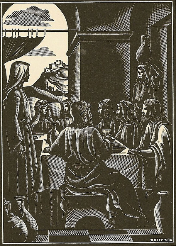 """Feast of Cana"" by Bruno Bramanti (1951)"