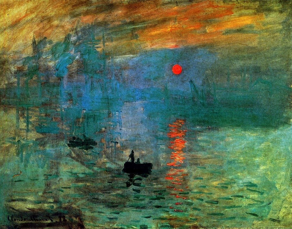 "Impressionism:  Sunrise  by Claude Monet, 1873.  ""Light dawns in the darkness for the upright.""  (Psalm 112:4)"