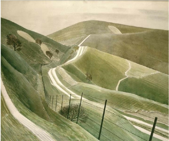 Chalk Paths, by Eric Ravilious.
