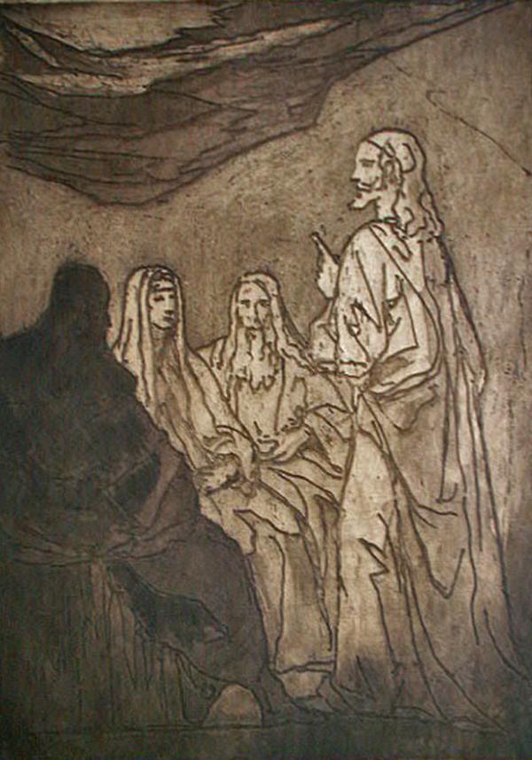 Jesus Teaching his Disciples, by Emile Bernard
