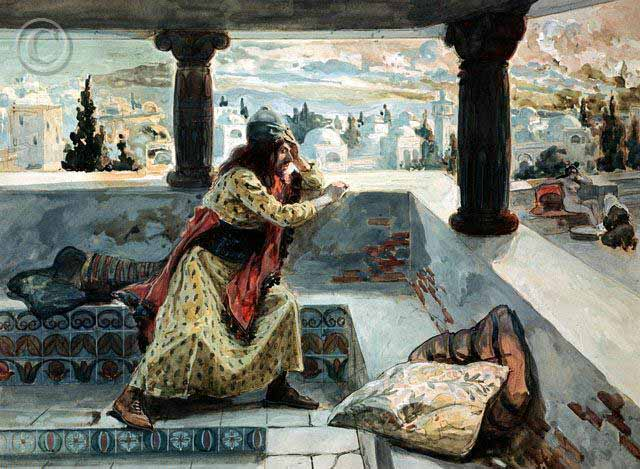 David Sees Bathsheba Bathing by James Tissot