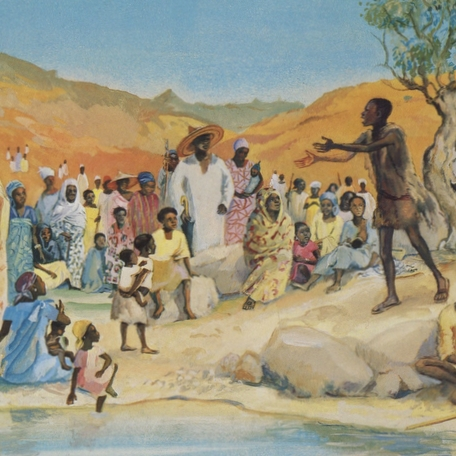 John the Baptist Preaching in the Desert  Cameroon, 1973
